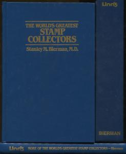 Box Set of 2 Volumes The World's Greatest Stamp Collectors Stanley M Bierman MD