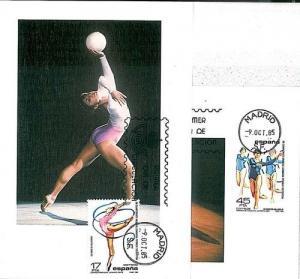 SPORT - GIMNASTIC : SET OF 2 MAXIMUM CARD - SPAIN 1985