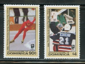 DOMINICA SCOTT #1595/97 LILLIHAMMER OLYMPIC GAMES  SET & SOUVENIR SHEET MINT NH