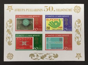 Turkey 2005 #2986 Imperforate S/S, Europa 50th Anniversary, MNH.