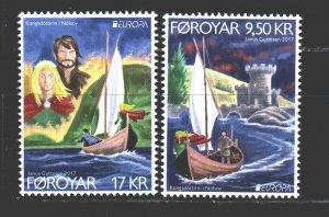 Faroe Islands. 2017. 892-93. Europe, castles. MNH.