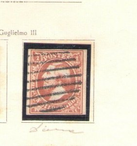1852 Luxembourg - N° 2 - 1 S.Red , Used Vinyl Decals/Sign Alberto