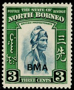 NORTH BORNEO SG322, 3c slate-blue & green, NH MINT.