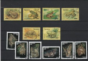 Tanzania Frogs & Bats Stamps Ref 24926