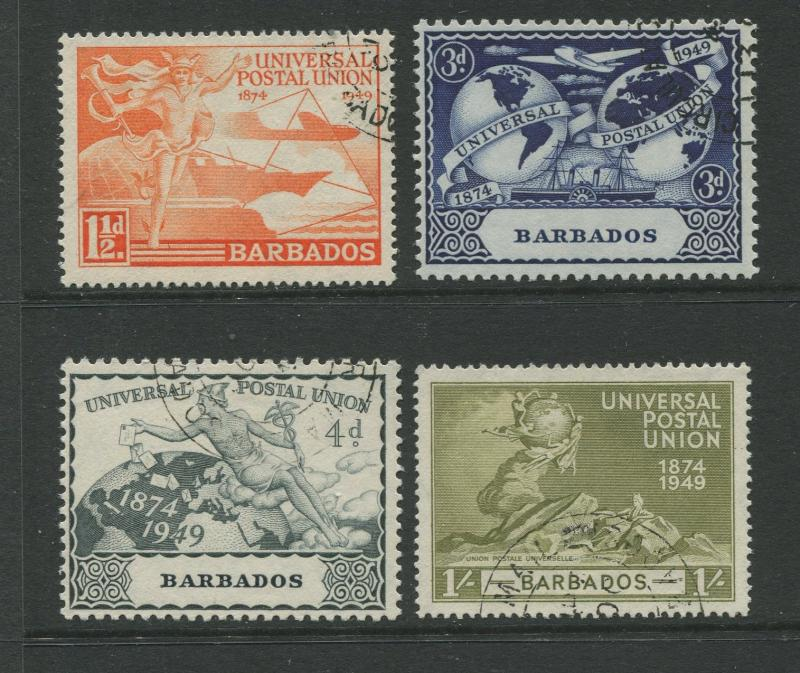 Barbados #212-215 VFU 1949 UPU Set of 4 Stamps