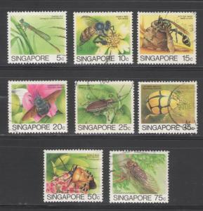 Singapore 1988 Insects (Leigh - Mardon)  Sc #453a - 460a U