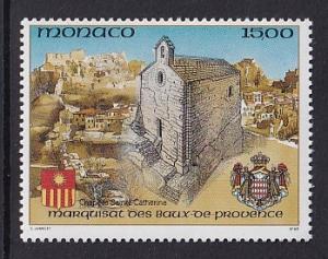 Monaco  #1835    MNH  1992   chapel of  St. Catherine