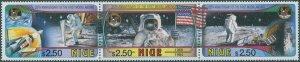 Niue 1994 SG780a First Moon Landing 25th strip MNH