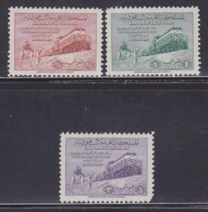 Saudi Arabia Scott # 187-189 VF mint lightly hinged scv $ 40 ! see pic !