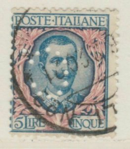 Italy Kingdom 1901 King Victor III 5L Used Perfin A18P28F101