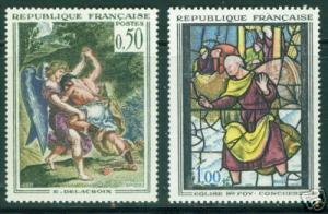 FRANCE Scott 1054-1055,  MNH** 1963 Art set CV $7