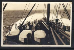 Germany New York 1914 N D L Ship Mail Picture Postcard F