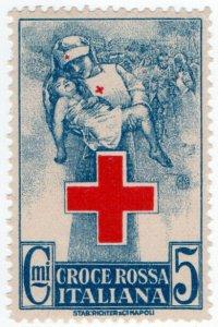 (I.B-CKK) Italy (Great War) Cinderella : Red Cross Fund 5c