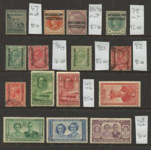 Bechuanaland Protectorate - Scott Various -  Mint & Used 15 Single Stamps