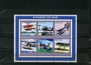 MOZAMBIQUE 2002 Sc#1648 AVIATION/SEAPLANES SHEET OF 6 STAMPS MNH