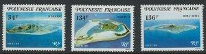 French Polynesia Scott 352-354 MNH!