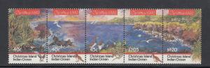 Christmas Island Scott #347 Strip MNH