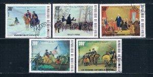 Burkina Faso 365-67;C209-10 Used set American Revolution 1975 (HV0106)+