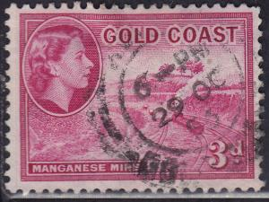 Gold Coast 153 USED 1953 QEII Manganese Mine 3d