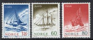 Norway 596-598 Sailing Ships MNH VF
