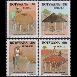 BOTSWANA 1988 - Scott# 452-5 Grain Storage Set of 4 NH