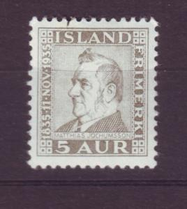 J19143 Jlstamps 1935 iceland mh #196
