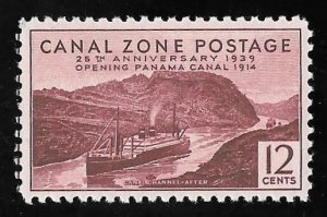 CANAL ZONE 129 12 cents 25th Anniversary Stamp Mint OG NH VF