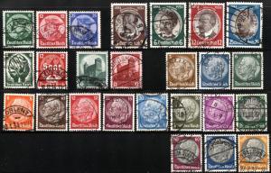 GERMANY Deutsche Reich SC# 398-414 432-435 442-445 Stamps Postage 1933-34 USED
