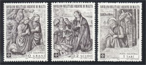 Sovereign Military Order of Malta SMOM 1969 Nativity Set 3 Stamps MNH YT 47-49