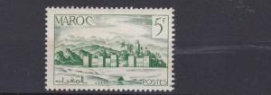 FRENCH COLONIES  MORROCO 1947 - 54     5F  EMERALD GREEN        MH