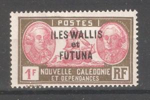 Wallis & Futuna 1930,Overprinted,1fr,Sc 67,VF Mint Hinged*OG (K-8)