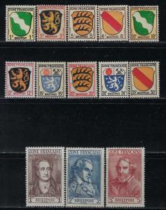 Germany - under French occupation - Scott # 4N1 - 4N13, mint nh, cpl set