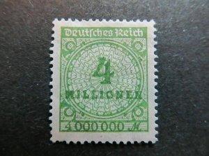 A4P8F125 Germany 1923 4mil mint no gum