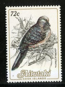 AITUTAKI 334 MH SCV $2.75 BIN $1.25 BIRDS