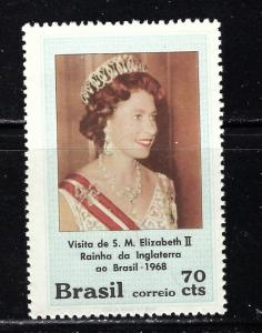 Brazil 1105 MNH 1968 QEII