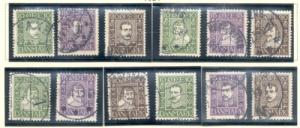 Denmark Sc 164-75 1924 300th anniv Post Service stamp set...