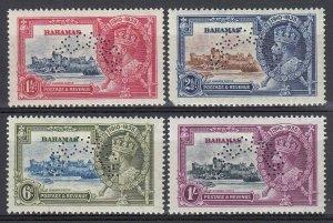 Bahamas, SG 141s-144s, MLH Specimen Overprint variety