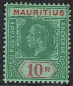 MAURITIUS 1913 KGV KEY TYPE 10R