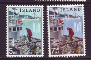 Iceland Sc 354-5 1963 Freedom from Hunger Boat stamps NH