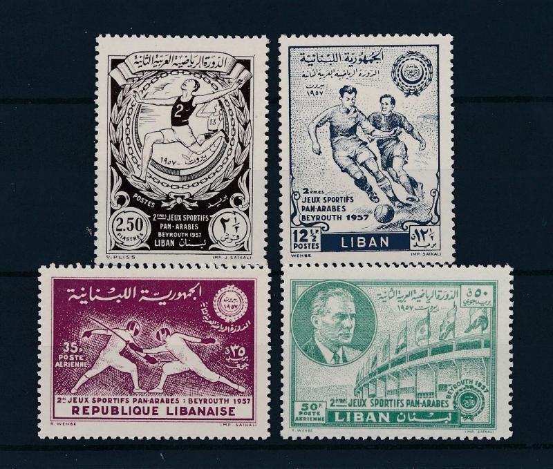 [46311] Lebanon 1957 Sports Athletics Football Fencing MNH