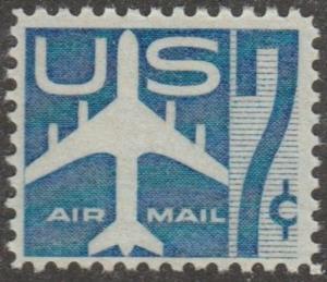 USA stamp, Airmail, Scott# C51, MNH, airplane blue,  #MA039