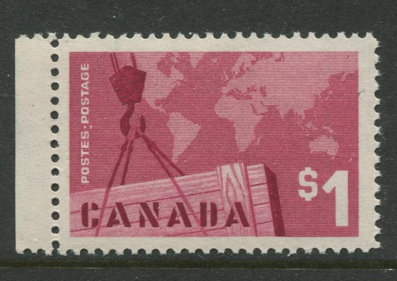 Canada -Scott 411- General Issue -1963 -MNH - Single $1 Stamp