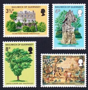 Guernsey Victor Hugo's Exile in Guernsey 4v SG#126-129 SC#123-126