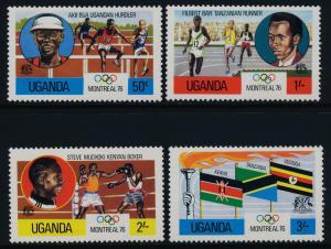 Uganda 151-4 MNH Olympic Games, Athletics, Boxing, Flags