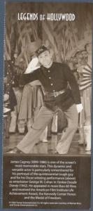 3329 Legend Of Hollywood James Cagney Selvage (No Stamps) Free Shipping