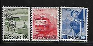NORWAY, 331-333, USED, TRANSPORTATION