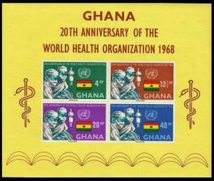 HERRICKSTAMP GHANA Sc.# 339A Medicine Imperf S/S