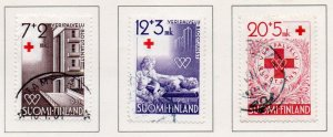 Finland Sc B101-06 1951 Red Cross charity stamp set used