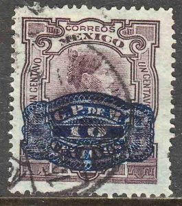 MEXICO 578, 10¢ ON 1¢ BARRIL SURCHARGE. USED. F-VF. (247)