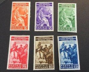 Vatican City Sc# 41-46 MH (Mint Hinged) 1935 Juridical Congress CV $219